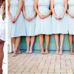 Aimee's bridesmaids dresses were perfect and very flattering for everyone! The neckline had such a wonderful detail that no necklaces were needed.